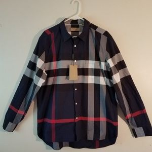 Burberry Navy Button Down